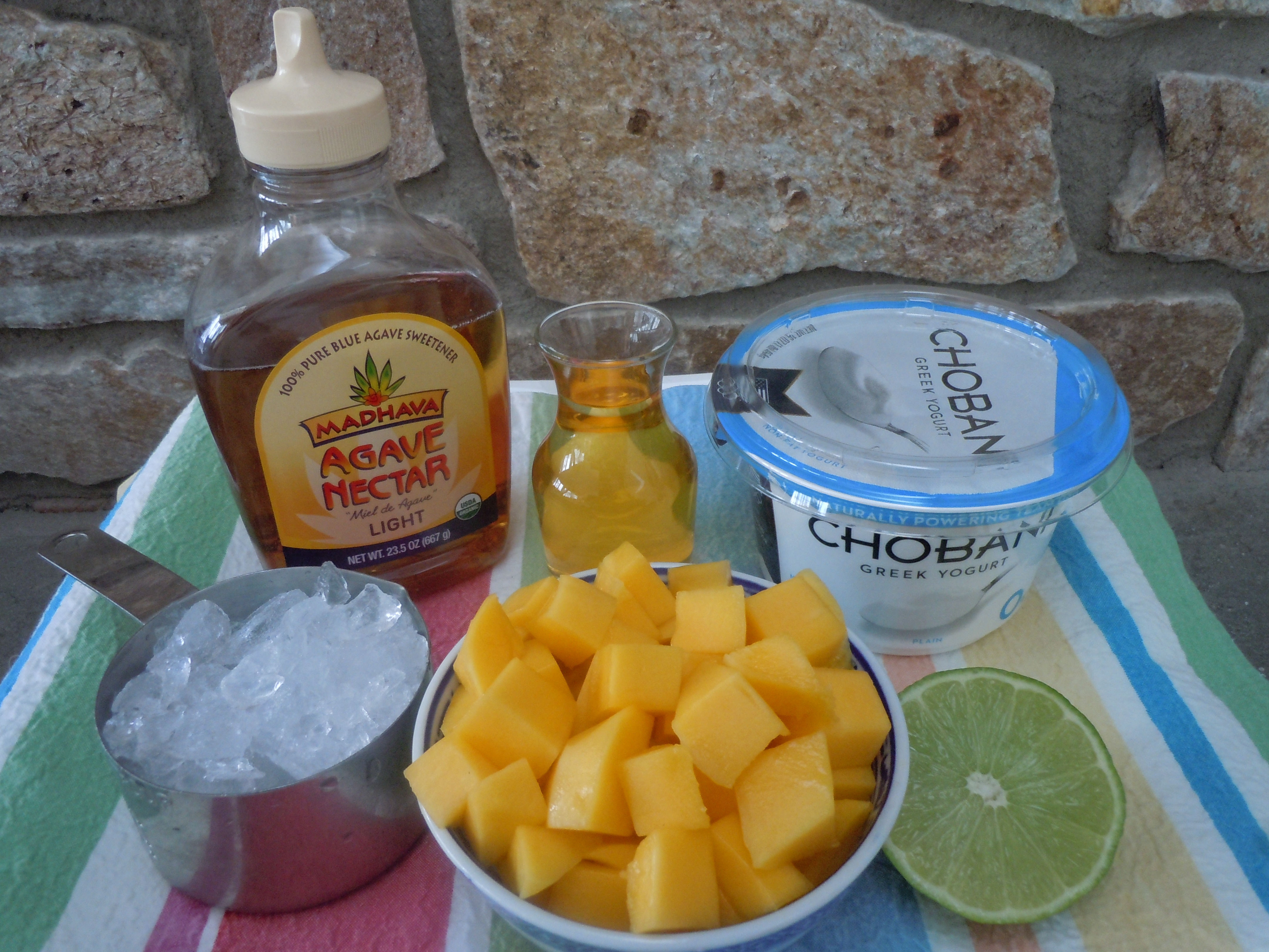 how to cut up mango for smotthie