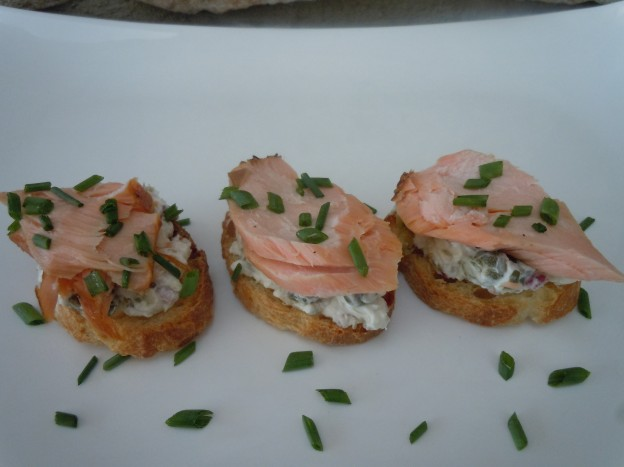 Crostinis, Smoked Salmon & Cream Cheese-Caper Spread | The Traveling ...